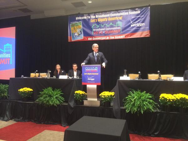 Chairman Tom Wheeler at the Broadband Communities Summit.