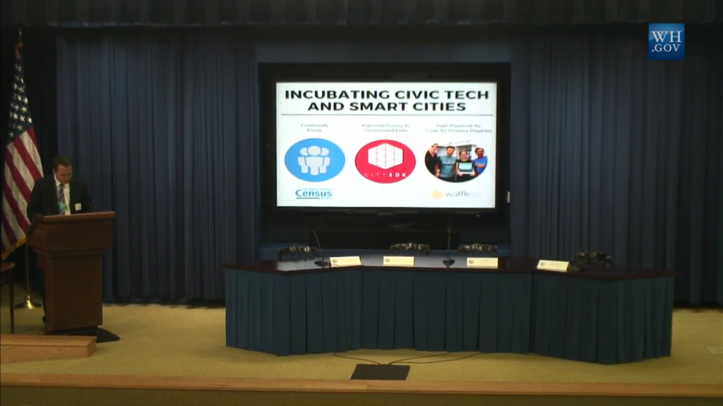 The launch of White House Smart Cities Initiative