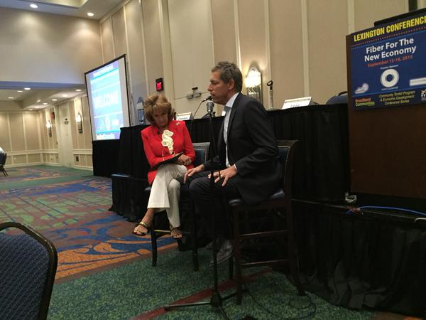 Hilda Legg interviews Jonathan Chambers at Kentucky conference.
