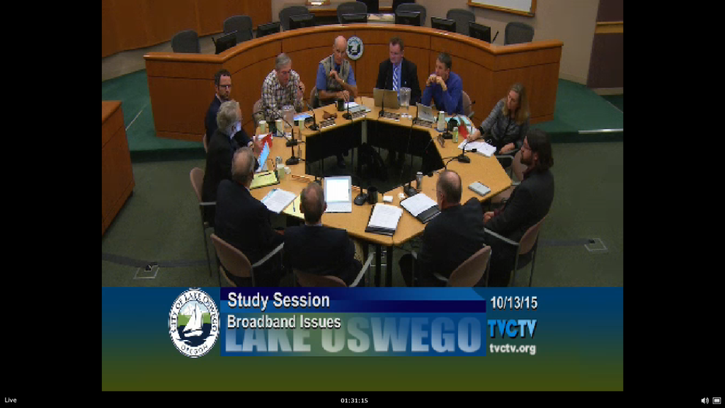City Council Meeting in Lake Oswego, Oregon